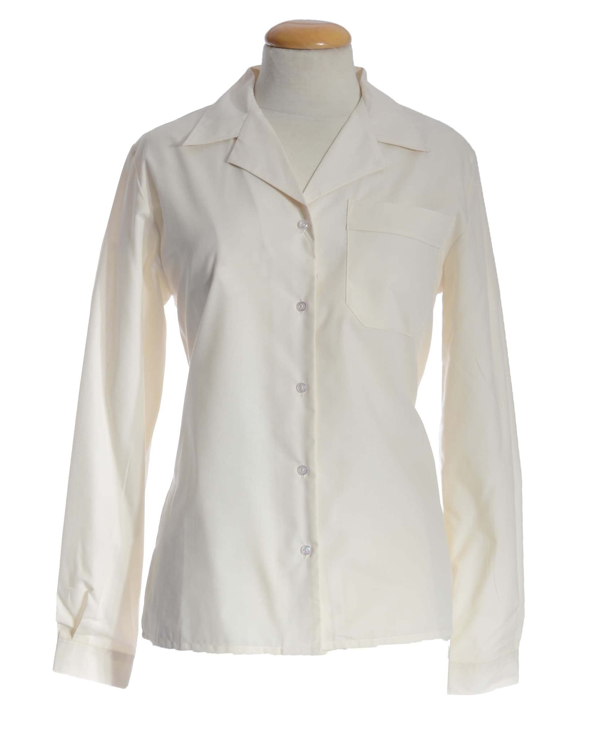 Cream Long Sleeve Blouse 23