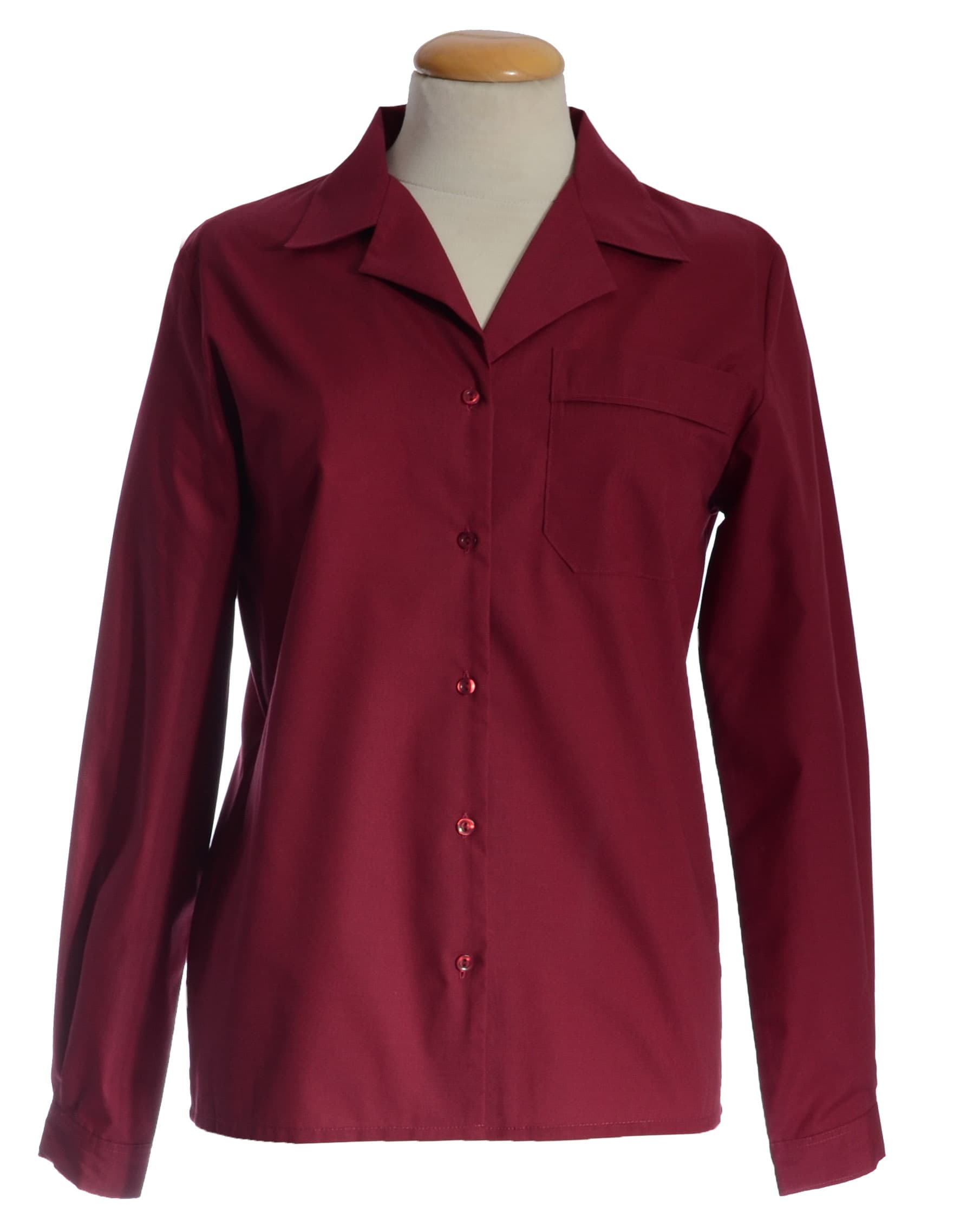 Double Two Women 39 S Burgundy Long Sleeve Blouse Long