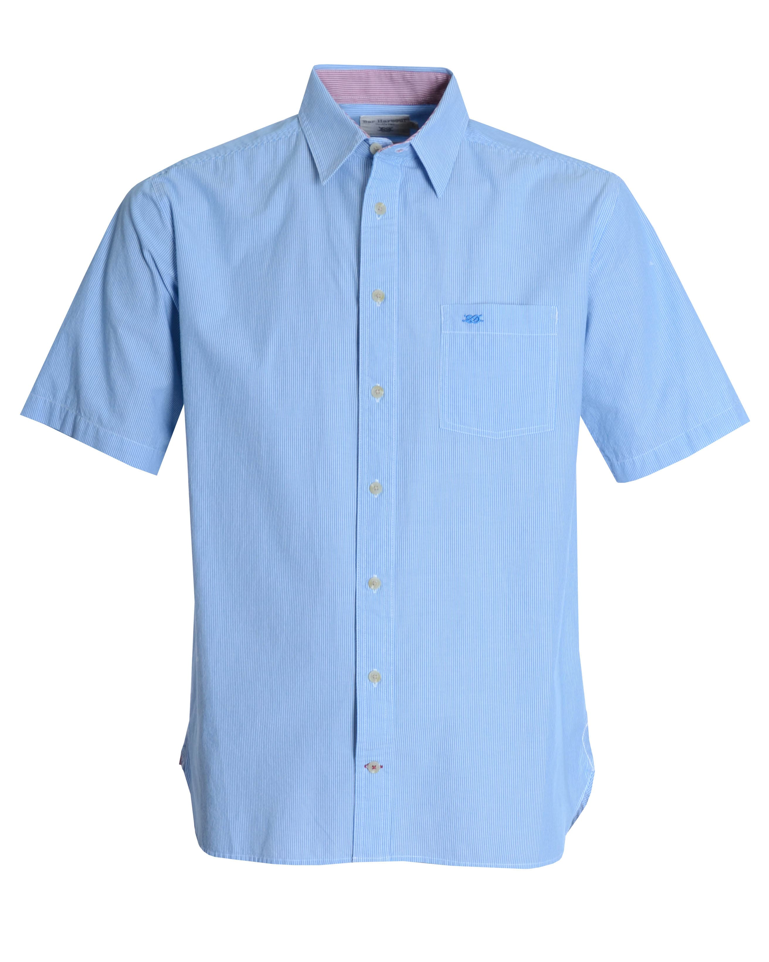 Double Two Blue Pinstripe Casual Shirt