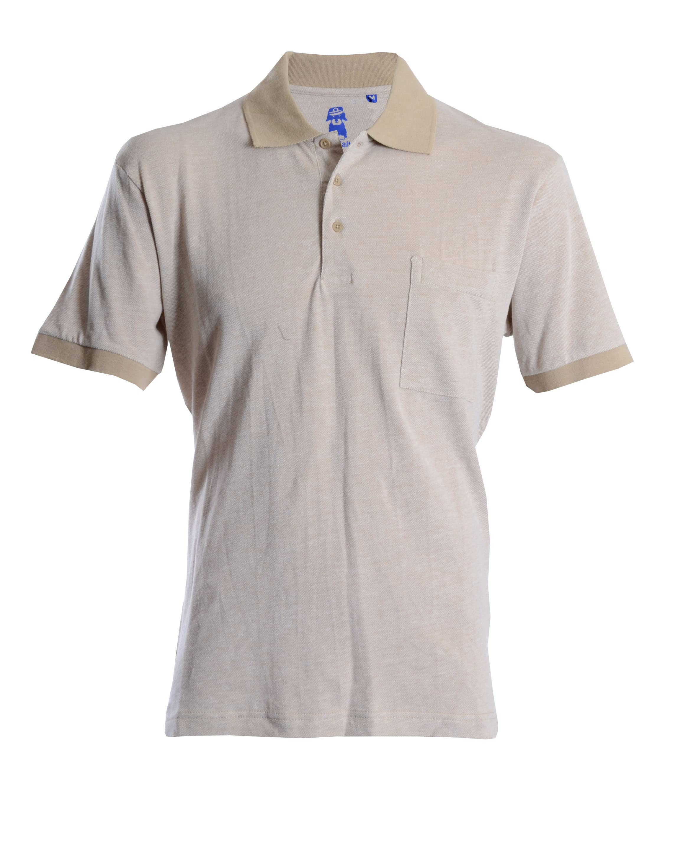Double Two Plain Beige Polo Shirt