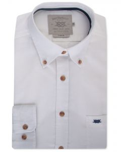 White Long Sleeve Casual Shirt Front