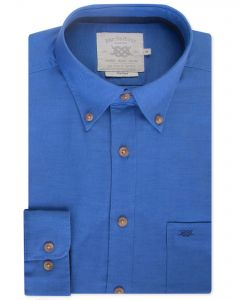 Aztec Blue Long Sleeve Casual Shirt Front