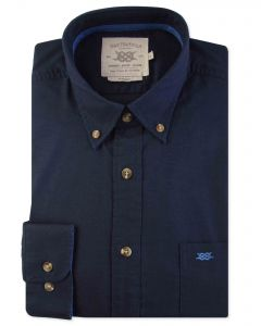 Navy Long Sleeve Casual Shirt Front