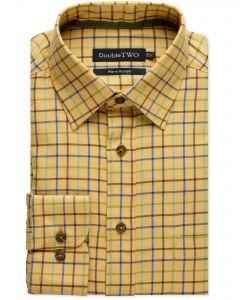 Mustard Tattersall Check Warm Handle Shirt