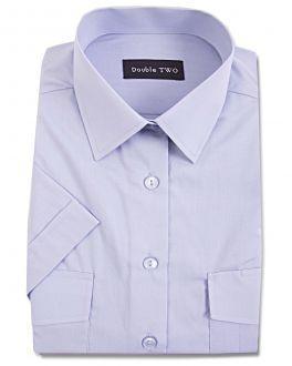 Blue Short Sleeve Pilot Men's Shirt