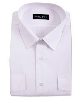 White Long Sleeve Men's Pilot Shirt