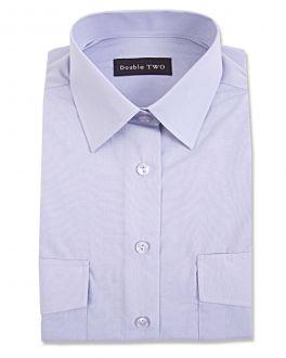 Blue Long Sleeve Men's Pilot Shirt