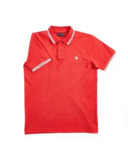 Men's Blue Pique Polo Shirt
