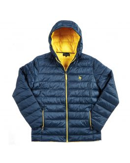 Navy & Yellow Lightweight Padded Jacket
