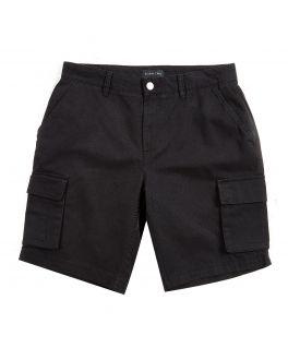 Black Soft Finish Cotton Cargo Shorts