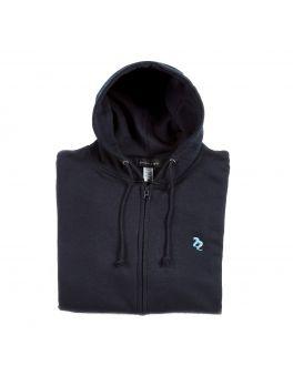 Full Zip Navy Hoodie Lifestyle