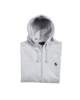 Full Zip Grey Hoodie Lifestyle