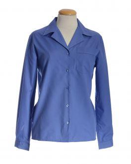 Midnight Blue Open Neck Long Sleeve Women's Shirt