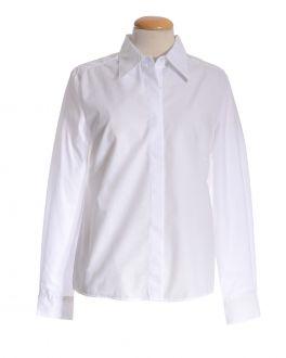 White Classic Collar Women's Shirt