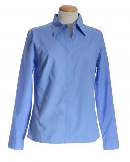 Cornflower Blue Classic Collar Women's Shirt