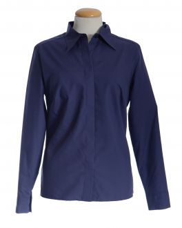 Navy Classic Collar Women's Shirt