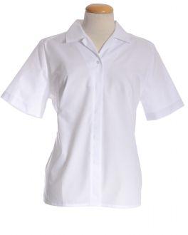 White Short Sleeve Women's Shirt