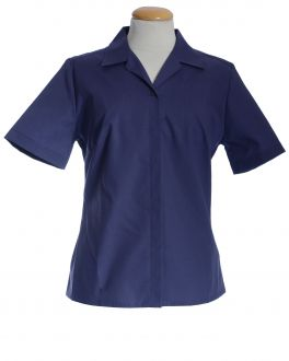 Navy Short Sleeve Women's Shirt