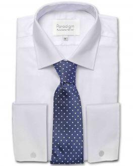 White Double Cuff Luxury Pure Cotton Non Iron Shirt