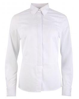 White Marcella Bib Front Women's Dress Shirt