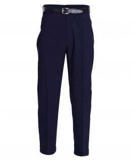 Navy Polyester Trousers