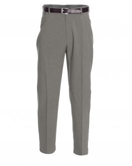 Taupe Polyester Trousers