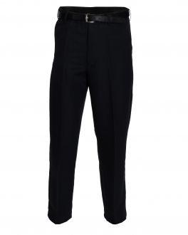 Black Polyester Flexi-Waist Trousers