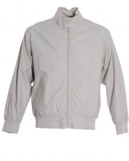 Beige Harrington Casual Jacket Front