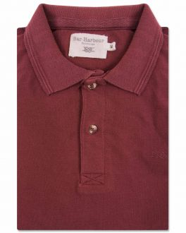 Bar Harbour Red Knot Cotton Polo Shirt