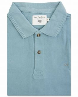 Bar Harbour Aqua Knot Polo Shirt