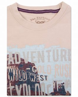 Bar Harbour Beige Adventure Print T-Shirt