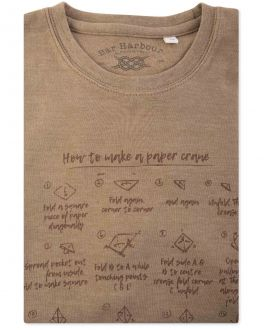 Bar Harbour Brown Paper Crane Print T-Shirt