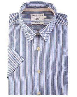 Bar Harbour Blue Multi Stripe Short Sleeve Casual Shirt