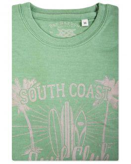 Bar Harbour Green Marl South Coast Print T-Shirt