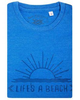 Bar Harbour Blue Life's a Beach Print T-Shirt