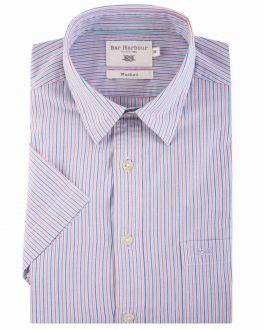 Bar Harbour Bright Multi Stripe Short Sleeve Casual Shirt