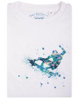 Bar Harbour White Surfer Print T-Shirt