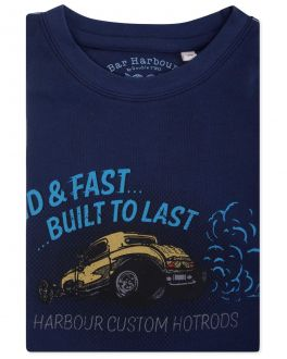 Bar Harbour Navy Loud and Fast Print T-Shirt