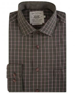 Moss Green Check Warm Handle Casual Shirt