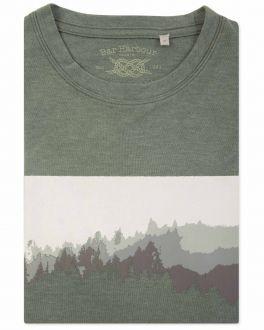 Men's Sage Marl Forest Print T-Shirt