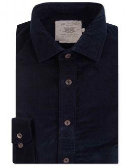 Men's Navy Corduroy Casual Shirt