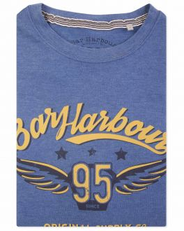 Men's Blue Marl Bar Harbour 95 Print T-Shirt