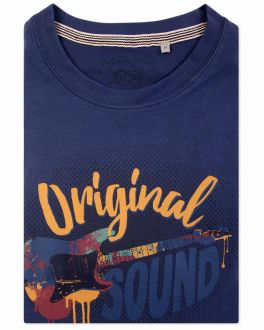 Men's Navy Original Sound Print T-Shirt