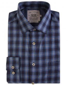 Blue Carlton Check Casual Shirt