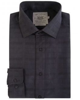 Men's Black Textured Soft Touch Casual Shirt