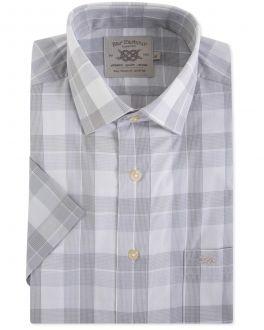 Grey Classic Check Short Sleeve Casual Shirt