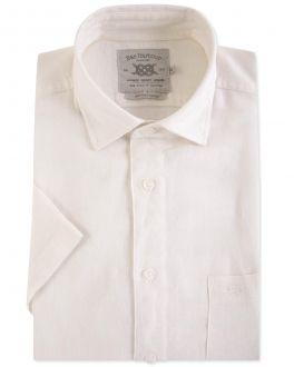 Linen Blend Short Sleeve Casual Shirt