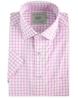 Pink Healy Check Short Sleeve Casual Shirt
