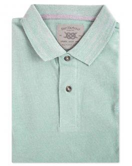 Men's Aqua Pique Polo Shirt Front