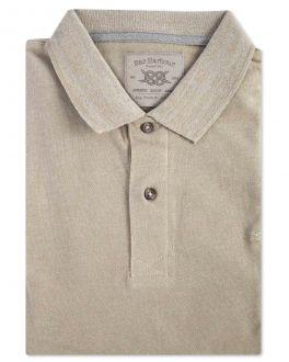 Men's Stone Pique Polo Shirt